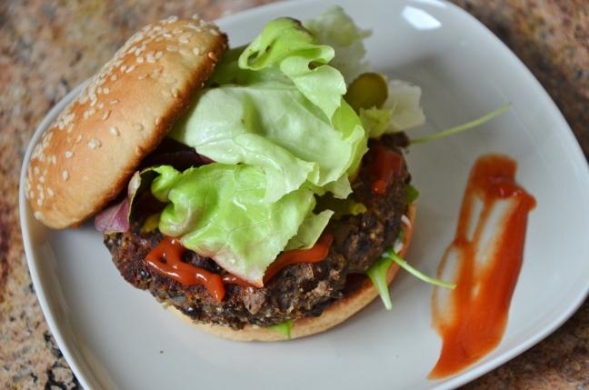 burger lentilles-champignons 2